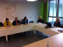 Diskussion mit der Neu-Ulmer Hochschulleitung