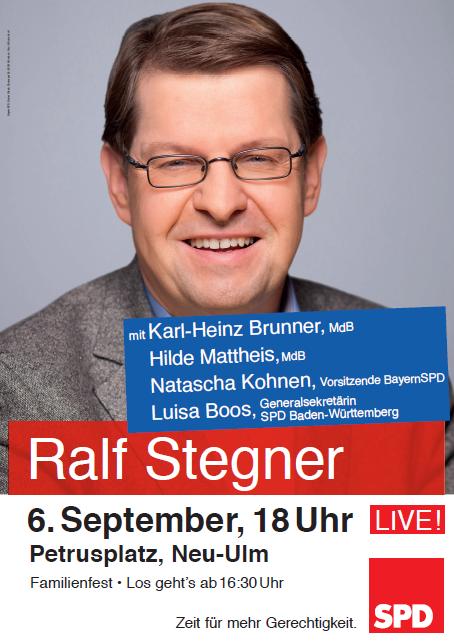 Ralf Stegner Kommt nach Neu-Ulm